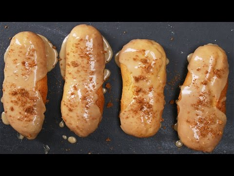 Cookie Butter Eclairs