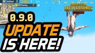 PUBG Mobile 0.9.0 UPDATE is HERE! First Look!