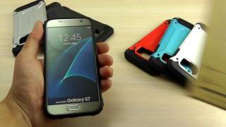 """ОБЗОР: Противоударный Чехол-Накладка для Samsung Galaxy S7 SM-G930F Серия Armor """"SGP"""""""