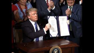 Trump Signs 'Historic' Bill to Transform VA