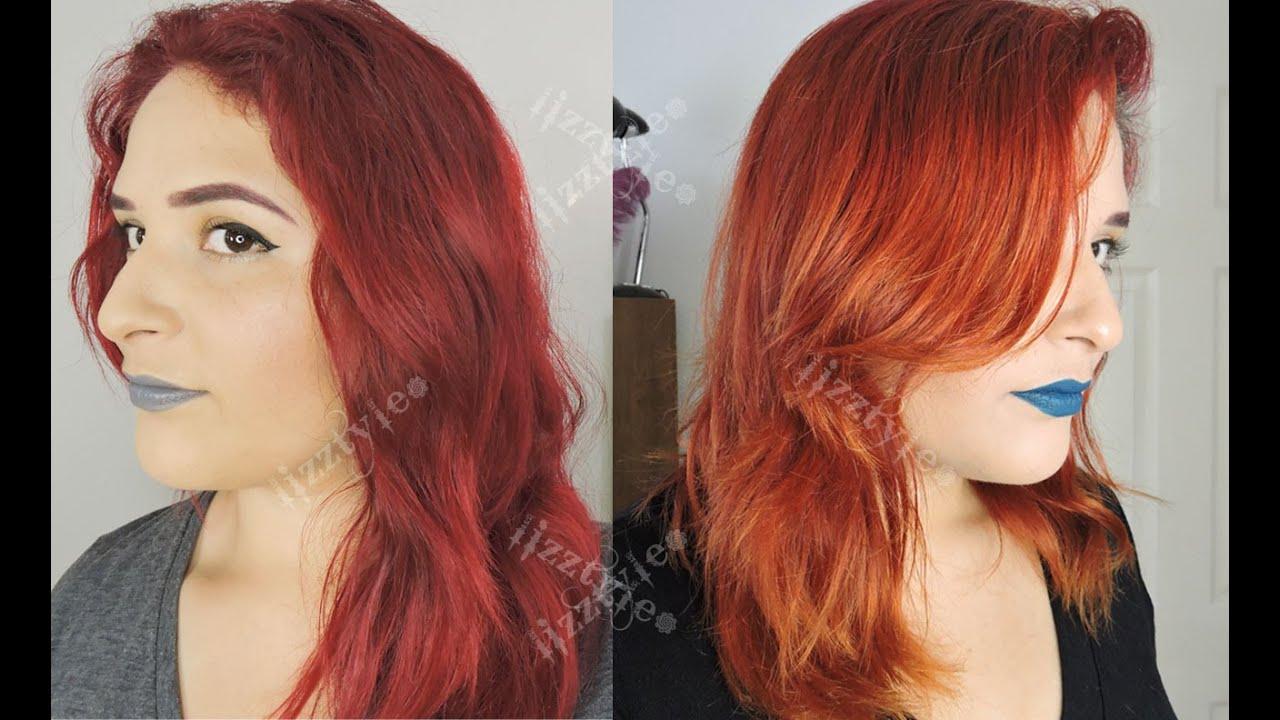 Cabello rojo sin decoloracion