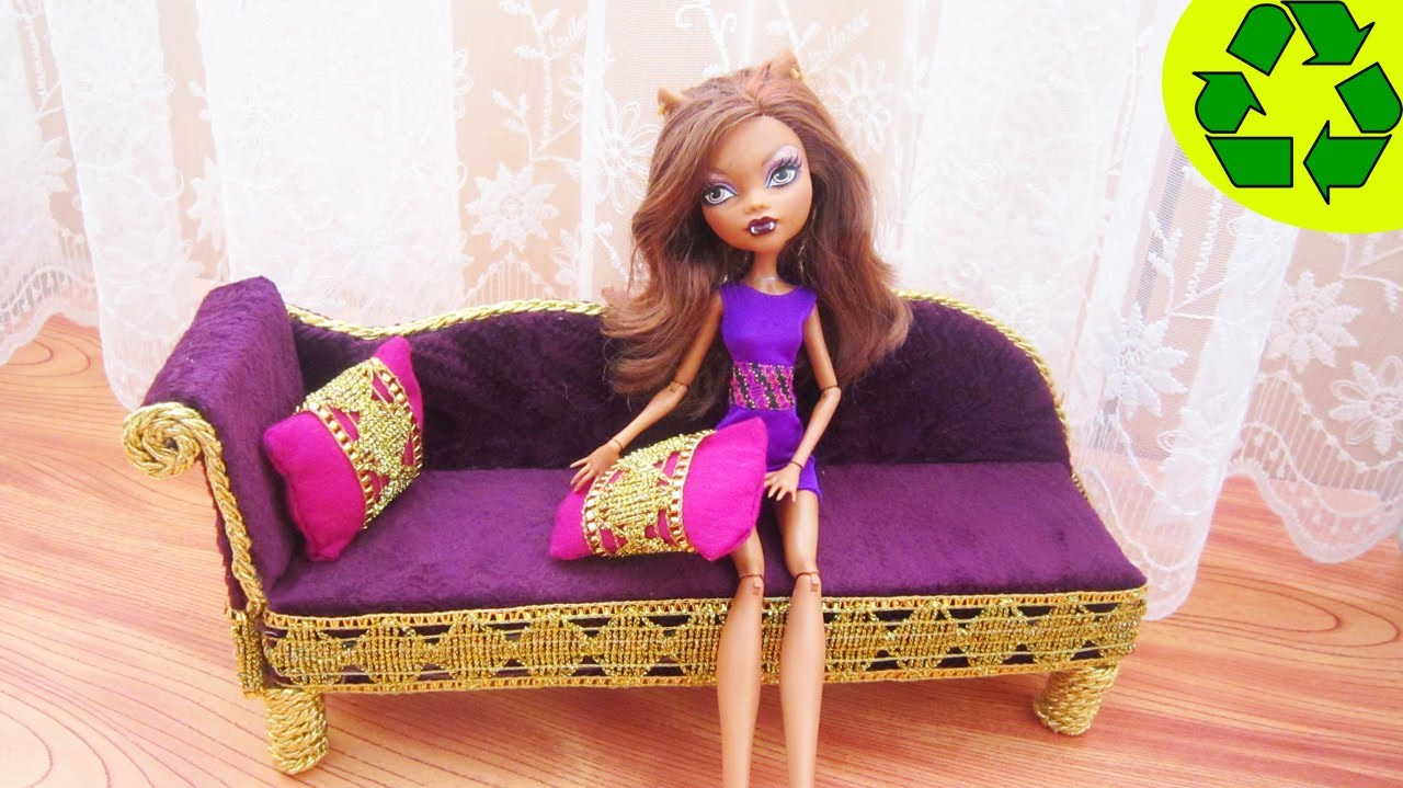 Manualidades para muñecas: Haz un sofá mueble cama para tu muñeca ...