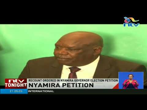 Recount ordered in Nyamira governor election petition