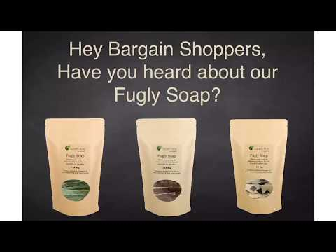 Introducing our bargain bag of handmade soap.  Fugly soap. One pound bag