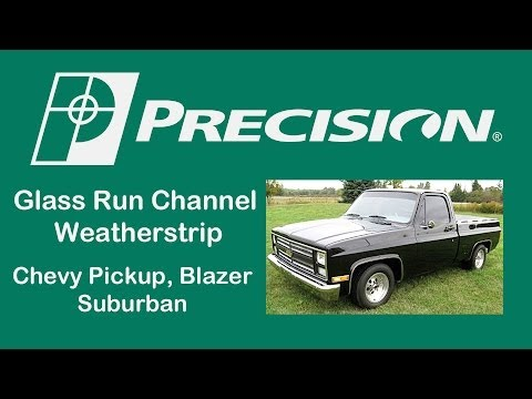 1981 1987 91 Chevy Truck Glass Run Channel Install Youtube