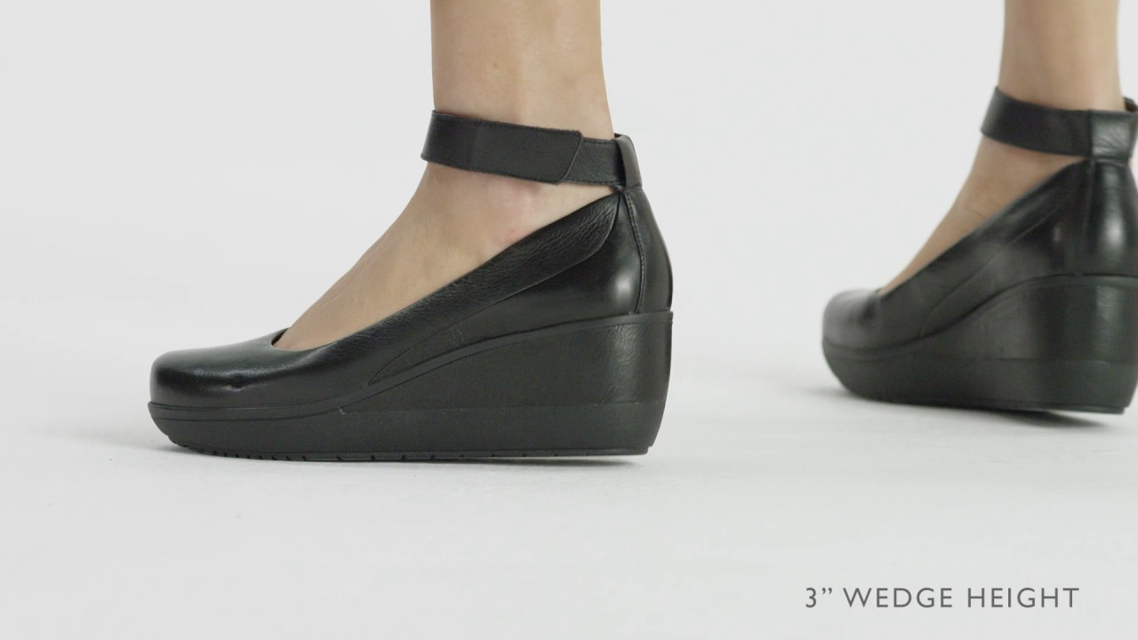 Clarks Shoes Black Wedges