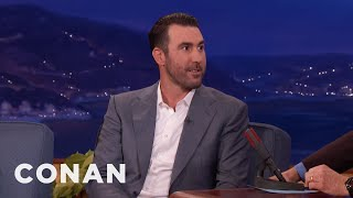 The World Series Made Justin Verlander Late To His Wedding  - CONAN on TBS