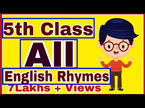 5th Class English All Rhymes   Ap 5th class English All poems