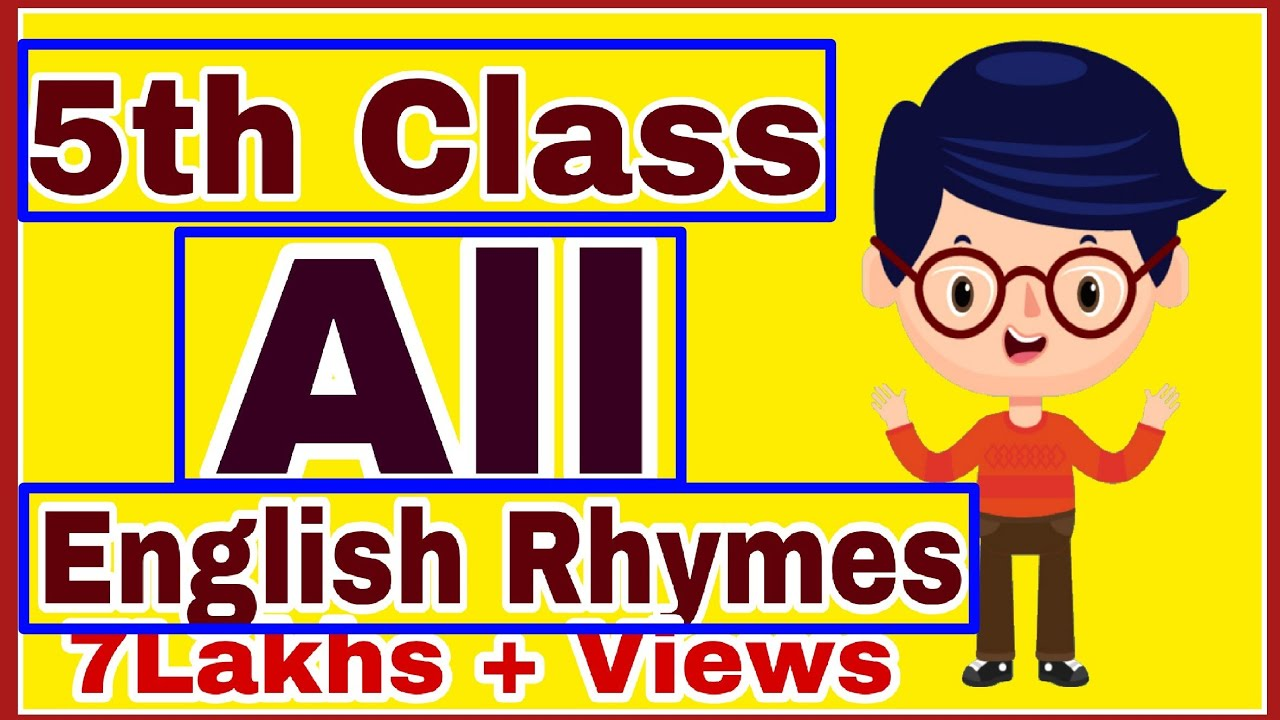 5th Class English All Rhymes Ap 5th Class English All Poems Youtube