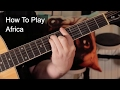 'Africa' Toto Acoustic Guitar Lesson