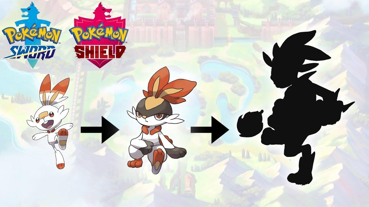 Scorbunny Evolution Pokemon Sword Shield Starter Fanart Youtube
