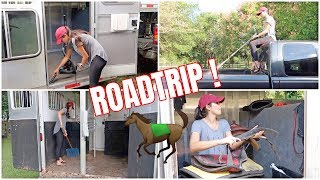 Cleaning & Preparing For A Road Trip With Horses! | Barn Vlog