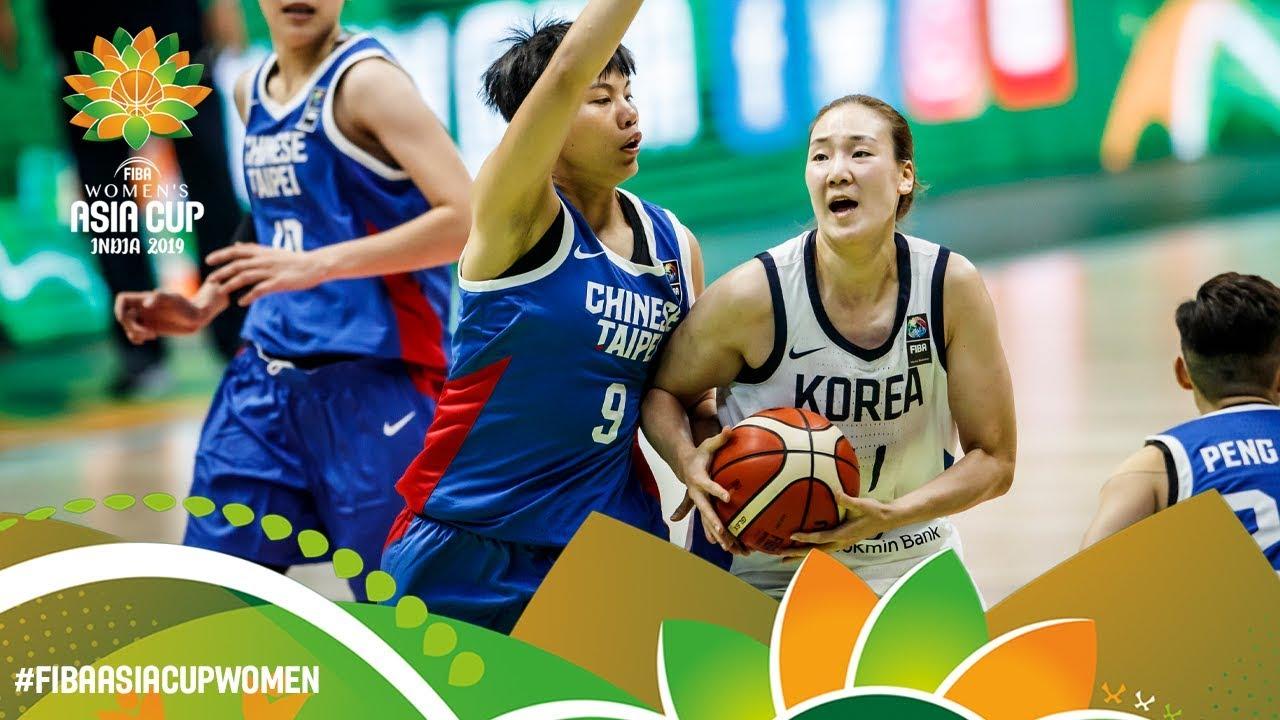 Korea v Chinese Taipei - Full Game - FIBA Women's Asia Cup 2019