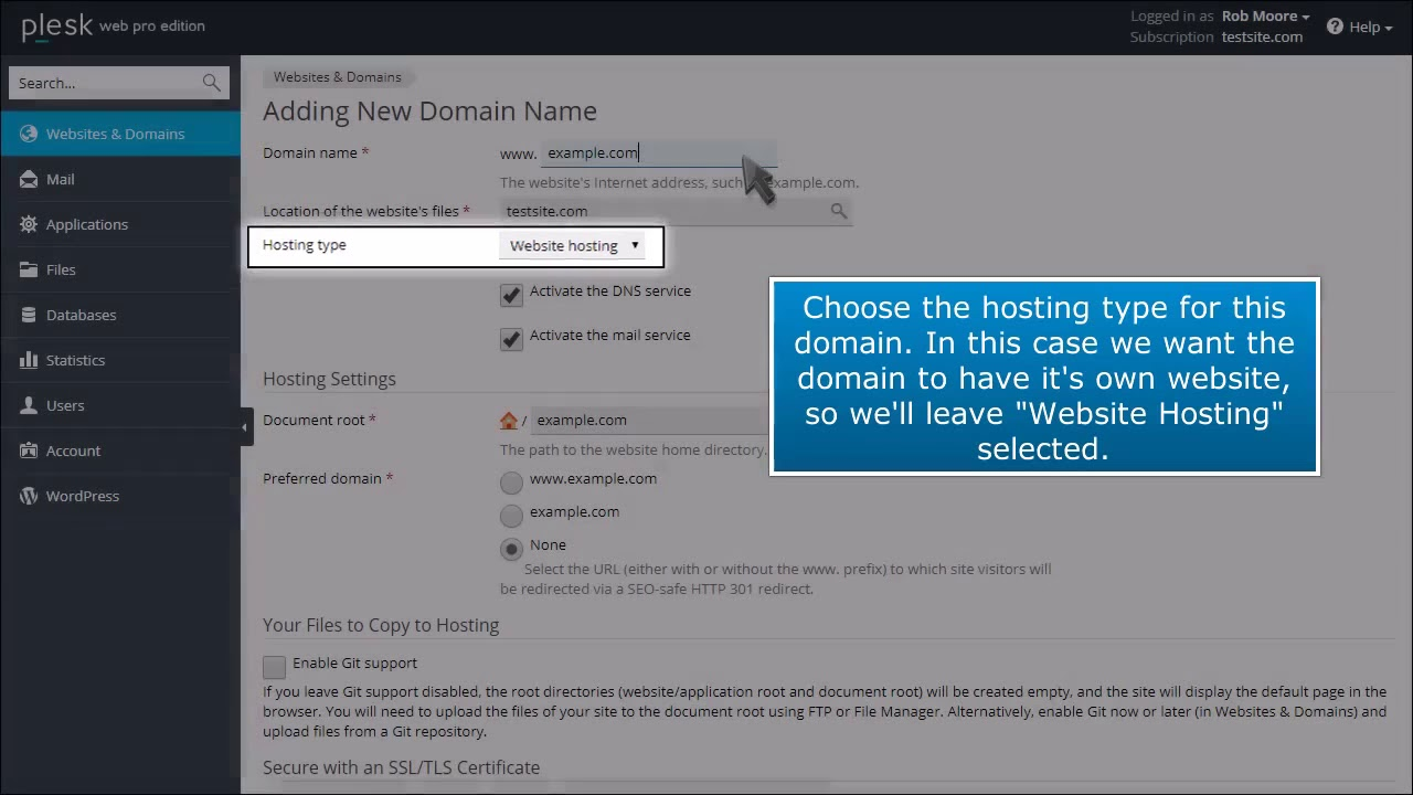 How to Add New Domains and Subdomains in Plesk