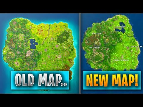 """FORTNITE MAP *REPLACED* WITH ANOTHER!!? - NEW SMALLER MAP made for """"Faster Gameplay"""".. (FORTNITE) thumbnail"""