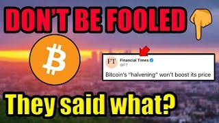 My Prediction Is That By May 2020, Media Outlets Will Pull A TOTAL 180° On Bitcoin!