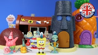Spongebob Squarepants Pineapple House, Bikini Bottom, Krusty Krab Playset | British Bobs Toy Reviews
