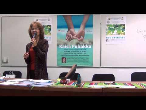"Kaisa Puhakka in Romania: ""How to heal anxiety and depression!"", Bucuresti. 13 Iunie 2014."