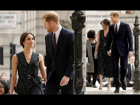 Prince Harry and Meghan Markle arrived at St Martin-in-the-Fields church in London
