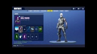 Fortnite account giveaway! Skull Trooper, Ghoul Trooper, Red Knight and alot of emotes etc..