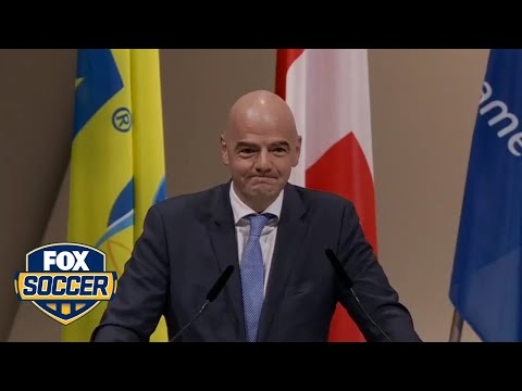 Gianni Infantino gives first speech as FIFA President