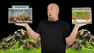 Amazing Ideas For Small Aquariums, Fish Tank Set Up