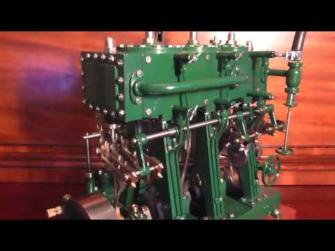 Bolton Triple Expansion Steam Scale Model Marine Engine