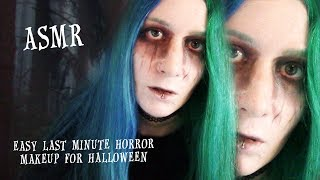 ASMR EASY/LAST MINUTE HORROR MAKEUP FOR HALLOWEEN VOICE OVER
