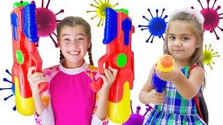 Nastya and Artem Children story about Viruses