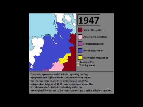 The Norwegian Occupation zones in Germany