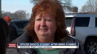 Student shot, officer stabbed in Oshkosh West High School incident