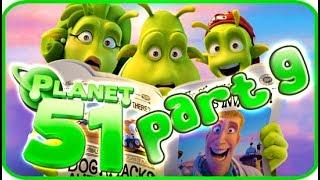 Planet 51 Walkthrough Part 9 (PS3, Xbox 360, Wii) - Movie Game