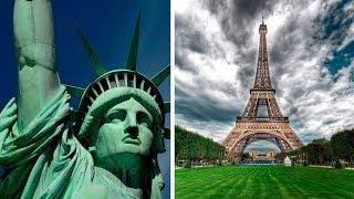 Строили русские?  Статуя Свободы и Эйфелева башня