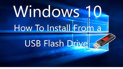 How To Install/Upgrade Windows 10 From a USB Flash Drive Tutorial.