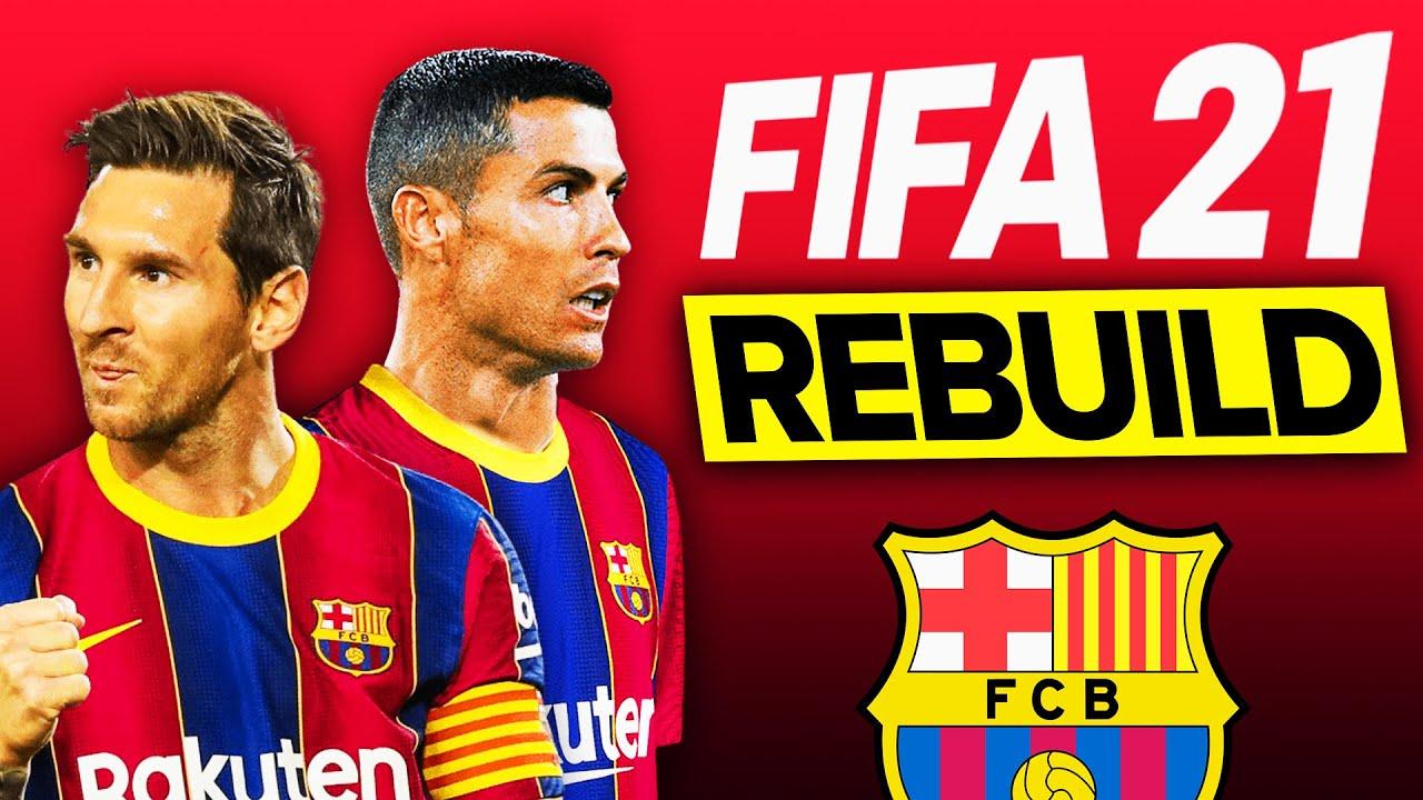 FIFA 21 İLK REBUILD // RONALDO VE MESSİ İLE YENİ BARCELONA // FIFA 21 KARİYER MODU