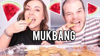 MUKBANG ❤ Vegan kipnuggets en watermeloen | Beautygloss