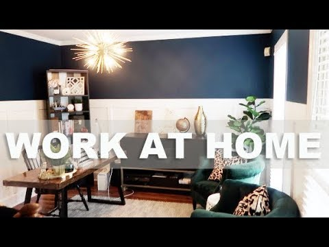 At home office Grey Dining Room To Home Office Transformation Formstack Home Office Reveal Dining Room To Home Office Transformation