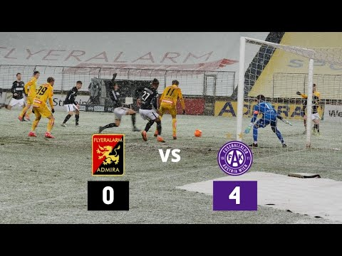 Flyeralarm Admira 0-4 FK Austria Wien (Highlights & Winter Storm)