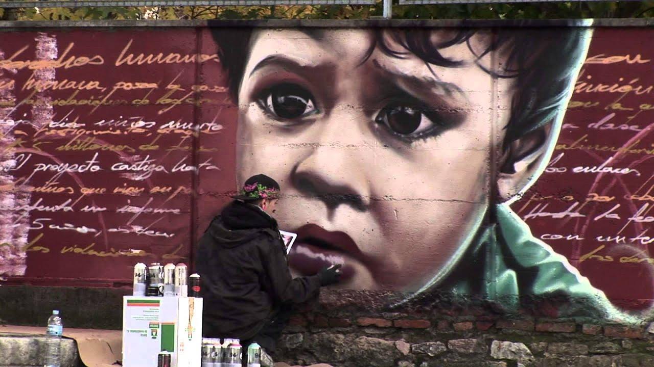 Un graffiti por los derechos humanos