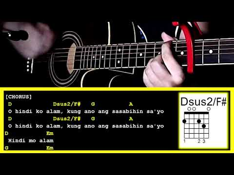 Hindi Ko Alam By Gimme 5 Guitar Chords Strumming Pattern Youtube