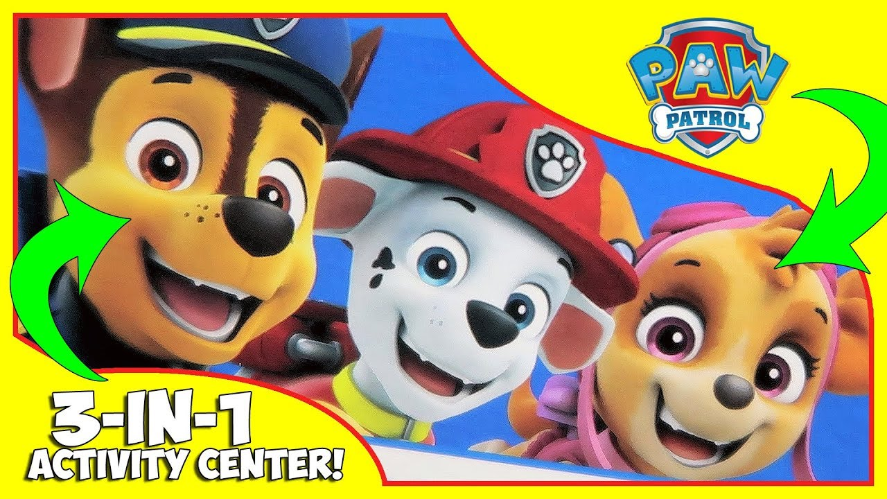 Paw Patrol - 3 in 1 Activity Center for Kids!!