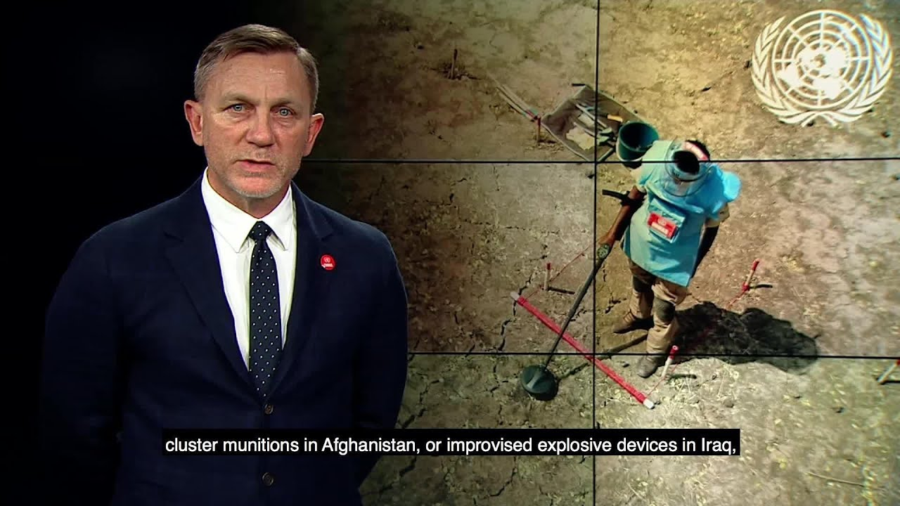 Daniel Craig on the Int'l Day for Mine Awareness and Assistance in Mine Action (4 April 2018)