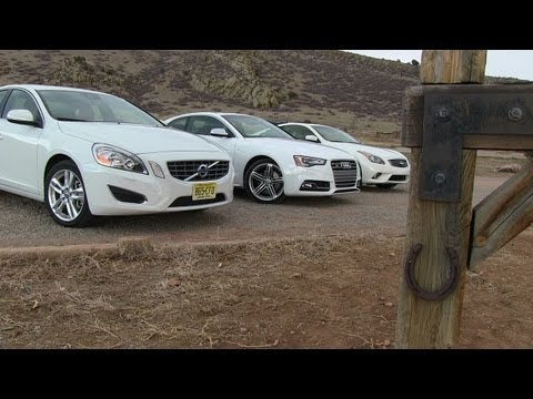 2013 Infiniti G37 vs Audi S5 vs Volvo S60 0-60 MPH Mile High Mashup Review