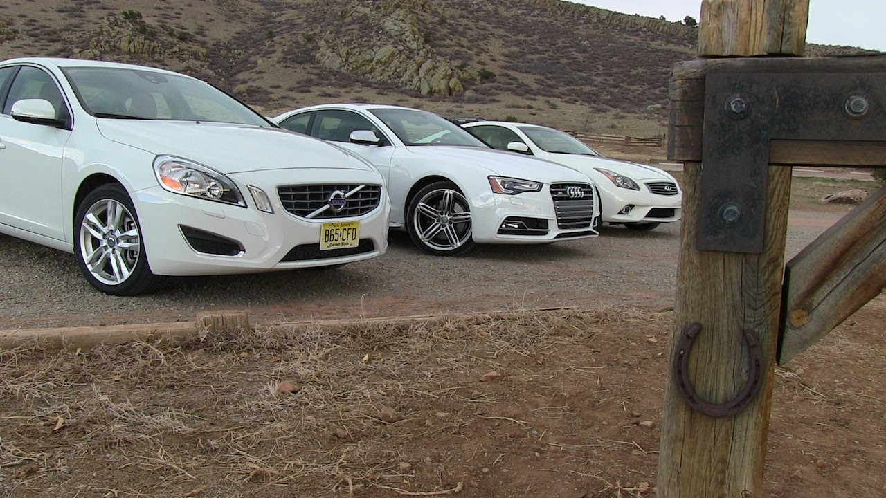 2013 infiniti g37 vs audi s5 vs volvo s60 0 60 mph mile. Black Bedroom Furniture Sets. Home Design Ideas