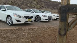 2013 infiniti g37 vs audi s5 vs volvo s60 0 60 mph mile high mashup review
