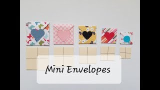Mini Envelopes Without Punch Board: Square