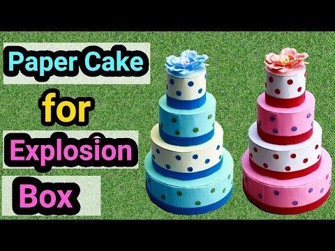 Paper Cake for Explosion Box | How to make Paper Cake | Friendship Day Gift Ideas |