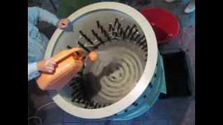 видео Перосъемная машина из центрифуги своими руками
