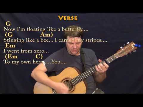 Roar (Katy Perry) Guitar Cover Lesson with Chords/Lyrics - Capo 3rd