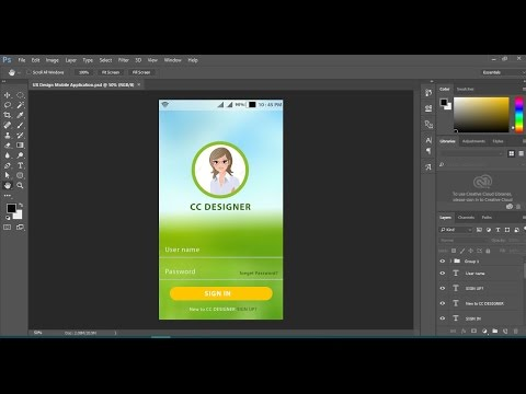 How to UX Mobile   App Design in Photoshop cc
